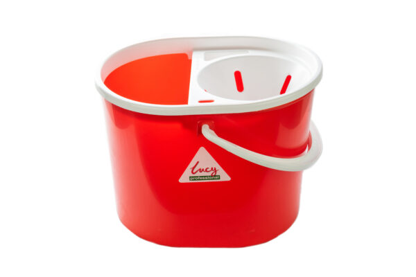 10L Lucy Plastic Bucket Red